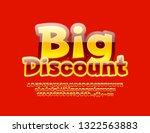 vector glossy bright emblem big ... | Shutterstock .eps vector #1322563883