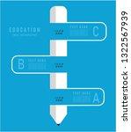 education infography vector | Shutterstock .eps vector #1322567939