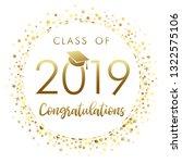class of 2019 graduation banner ... | Shutterstock .eps vector #1322575106