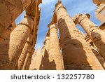 hieroglyphic covered columns in ... | Shutterstock . vector #132257780