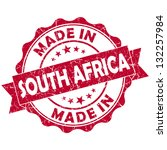 made in south africa stamp | Shutterstock . vector #132257984