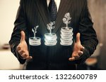 double exposure with growth...   Shutterstock . vector #1322600789