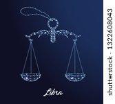 zodiac sign libra. the symbol... | Shutterstock .eps vector #1322608043
