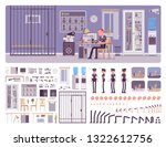 police station office interior... | Shutterstock .eps vector #1322612756
