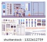 police station office interior...   Shutterstock .eps vector #1322612759