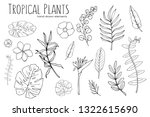 hand drawn watercolor tropical... | Shutterstock .eps vector #1322615690