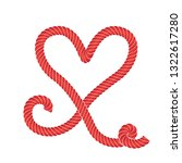 twisted vector rope heart icon...   Shutterstock .eps vector #1322617280