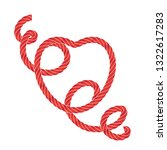 twisted vector rope heart icon... | Shutterstock .eps vector #1322617283