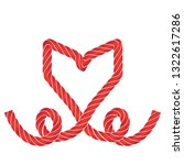 twisted vector rope heart icon...   Shutterstock .eps vector #1322617286