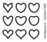 set of twisted vector heart...   Shutterstock .eps vector #1322617289