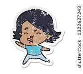 distressed sticker of a cartoon ... | Shutterstock .eps vector #1322627243