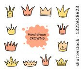 hand drawn set of different... | Shutterstock .eps vector #1322628623
