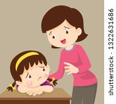 sad children wants to embrace... | Shutterstock .eps vector #1322631686