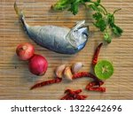 delicious mackerel with... | Shutterstock . vector #1322642696