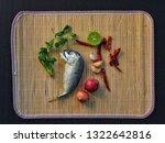 delicious mackerel with... | Shutterstock . vector #1322642816