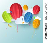 birthday flyer  background or... | Shutterstock .eps vector #1322642840