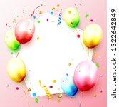 happy birthday celebration... | Shutterstock .eps vector #1322642849