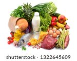 food on a white background | Shutterstock . vector #1322645609
