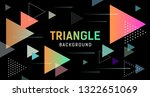 abstract colorful triangle... | Shutterstock .eps vector #1322651069