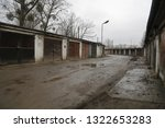 old  neglected  ruined garages. ...   Shutterstock . vector #1322653283