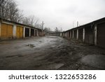 old  neglected  ruined garages. ...   Shutterstock . vector #1322653286