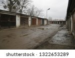 old  neglected  ruined garages. ...   Shutterstock . vector #1322653289
