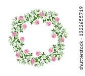 pink bush roses floral... | Shutterstock . vector #1322655719