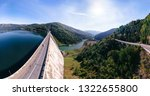 aerial scenic view of a dam... | Shutterstock . vector #1322655800