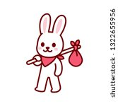 bunny vagabond character... | Shutterstock .eps vector #1322655956