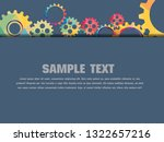 abstract techno gear background ... | Shutterstock .eps vector #1322657216