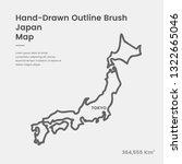 Cartoon Japan Map  Hand Drawn...