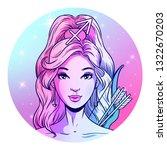 sagittarius zodiac sign artwork ... | Shutterstock .eps vector #1322670203