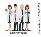 scientist teamwork  vector... | Shutterstock .eps vector #1322671259