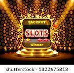 slots banner casino on the... | Shutterstock .eps vector #1322675813