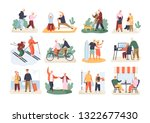 bundle of cute funny active... | Shutterstock .eps vector #1322677430