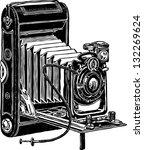 vintage camera | Shutterstock .eps vector #132269624