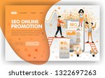 seo online promotion vector web ...