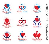 heart shapes composed using... | Shutterstock .eps vector #1322704826