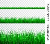 green grass border set | Shutterstock . vector #1322708549