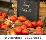 fresh organic food at the local ... | Shutterstock . vector #132270866