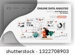 online data analysis vector...