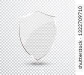 transparent shield. safety... | Shutterstock . vector #1322709710