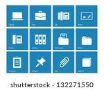 office icons on blue background.... | Shutterstock .eps vector #132271550