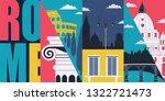 rome  italy vector banner ... | Shutterstock .eps vector #1322721473