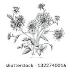 sketch floral botany collection.... | Shutterstock .eps vector #1322740016