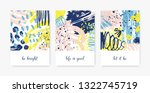 bundle of decorative card... | Shutterstock .eps vector #1322745719