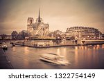 notre dame cathedral in paris   Shutterstock . vector #1322754149
