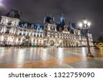 city hall in paris at night   Shutterstock . vector #1322759090