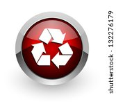 Recycle Red Circle Web Glossy...