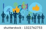 millennial  social media... | Shutterstock .eps vector #1322762753